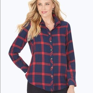 Foxcroft Zoey brushed window pane button down